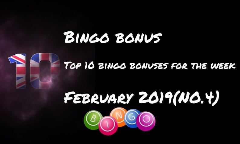 10 bingo bonuses for this week – #4 February 2019