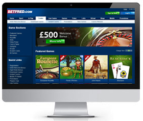 Betfred UK casino screenshot