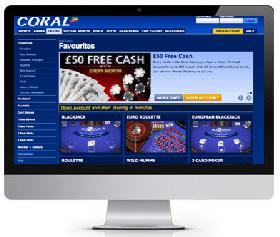 coral UK casino screenshot